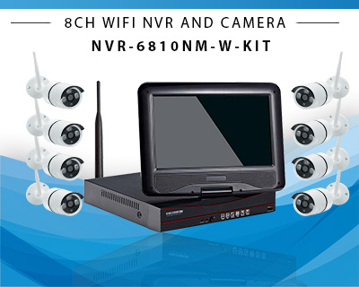 10inch 8ch wireless NVR